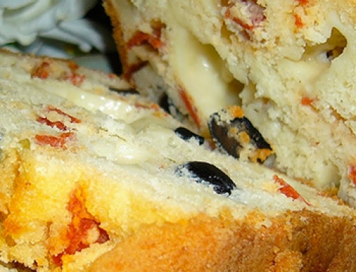 Cake au chorizo et olives